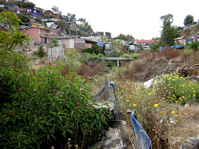 "Tijuana hillside - much of this land is located on or near a huge landfill used for decades, but is now closed.  Many people made their ""living"" by sorting and reclaiming anything of value from the landfill."