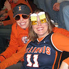 We're so wacky in our fun glasses at Illini game