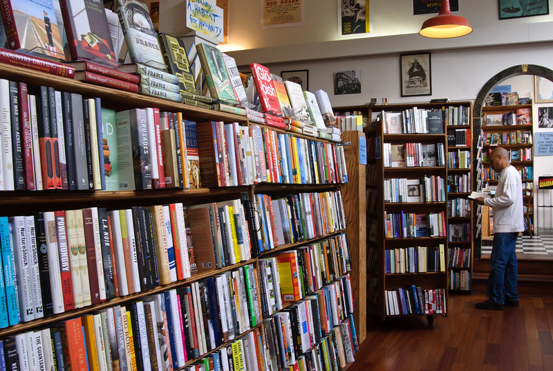At street level you'll find a large variety of contemporary literature...