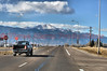 Westbound Platte Avenue (U.S. Highway 24) heading towards Pikes Peak Mountain.
