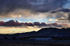 A cloudy sunset in beautiful Colorado Springs, Colorado, USA.