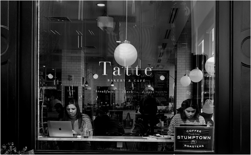 Tatte Bakery Cafe. Boylston Street, Fenway. March 16, 2020--one day before shut-down of restaurants and bars for consumption on-site.