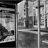Bus shelter. South Huntington Avenue. March 15, 2020.