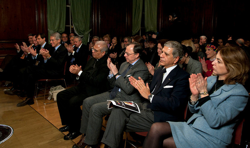 "Cardinal Sepe visits the Italian Cultural Institute to present ""Dire Napoli"" initiative. <br /> New York, January, 18th, 2011"