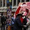 El 9 de abril ha sido la fecha elegida para celebrar por primera vez el Día Nacional de la Memoria y Solidaridad con las Víctimas, ya que fue ese mismo día en 1948 cuando fue asesinado el líder liberal Jorge Eliécer Gaitán, lo cual desencadenó el gris período de la historia colombiana conocido como «La Violencia».<br /> Foto: PBI Colombia