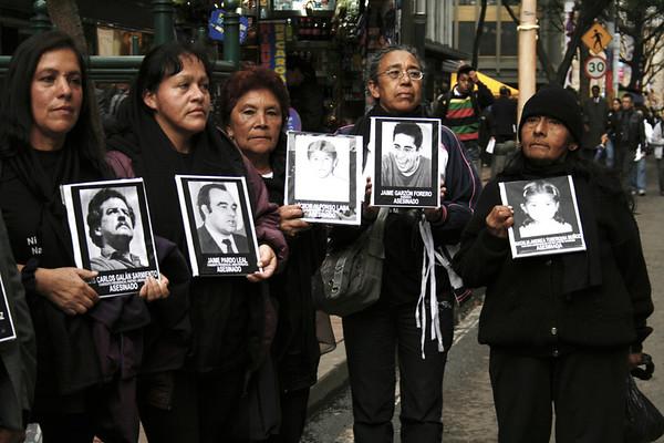 Activistas de organizaciones de mujeres de la localidad de San Cristobal (Bogotá).  Foto: PBI Colombia