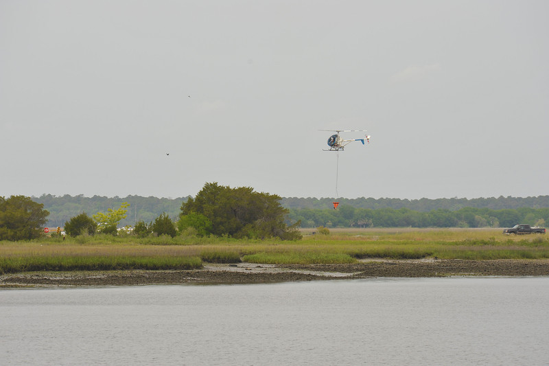 DNR Marsh Project of Unknown Destination from Andrews Island at Brunswick, Georgia on 04-18-12