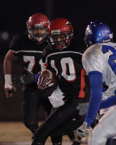 Corinth #10 Cadman Williams turns upfield after a first half catch