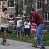"<a href=""http://www.dailyprincetonian.com/frontpage/2009/10/05/snapshot/""><i>The Daily Princetonian,</i> October 5, 2009 - Front Page Standalone</a>  Caption: Colin Hanna '11 and Elliot Welder '10 spend a sunny afternoon mixing the archaic pursuit of jousting with the modern skateboard."