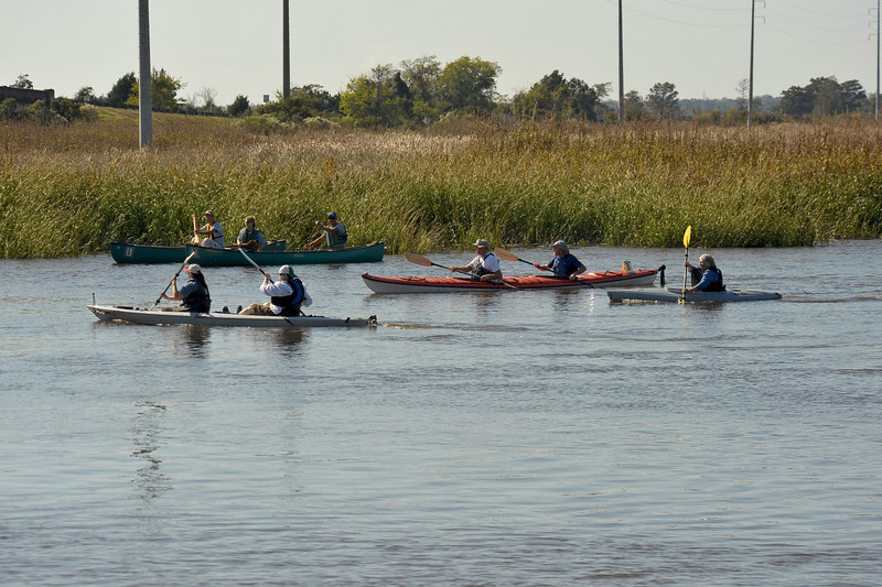Kayak race at the 2009 Darien Fall Festival