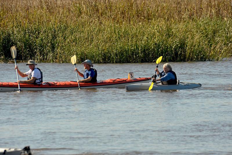 Kayak race at the 2009 Darien Fall Festival
