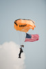 Army's Golden Knight with the flag drop on opening day of the Vectron Dayton Airshow.
