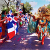 Warriors Carnaval Vegano and spectators near Mozart Playground.