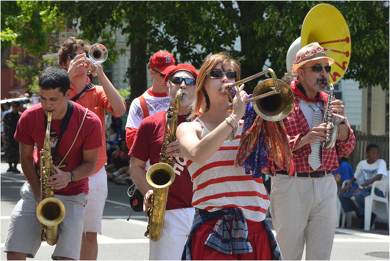 Second Line Social Aid and Pleasure Society Brass Band.
