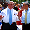 Boston Mayor Thomas Menino and Massachusetts Governor Deval Patrick at Lower Mills. 2009