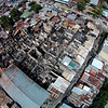 Aerial shot of fire-hit Barangay Luz in Cebu City
