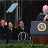 Speaking at podium: US Senator John McCain (R-Arizona).