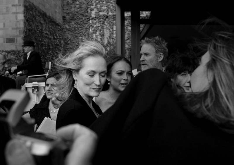 Meryl Streep outside the St. Paul hotel for the premiere of A Prairie Home Companion.