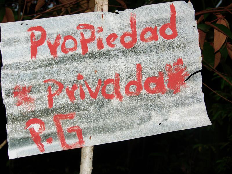 La comunidad ha intentado proteger sus zonas de cultivos con letreros. La comunidad espera que las negociaciones que se están llevando a cabo con empresa, Alcaldía y Fuerza Pública den el resultado esperado y puedan continuar con la tenencia de su tierra que es la fuente de sostenimiento de más de cien familias.
