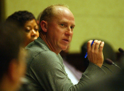 City Council member Kevin Krischer asks a question at the City Council meeting regarding the Design Review process Oct. 13.    Steve Manheim
