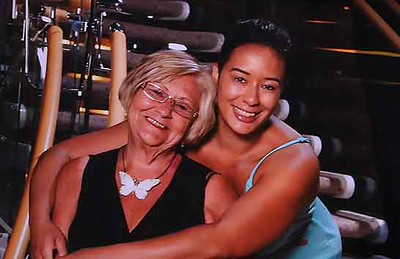 Kristy Flowers poses with her mother, Patricia. PHOTO PROVIDED.