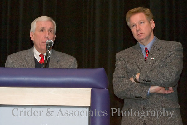 (Left) United States Representative Frank R. Wolf (VA-10th District), (right) United States Representative Tom Davis (VA-11th District)