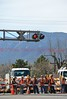 S. Sierra Madre Street closed because of a train derailment, near the Martin Drake Power Plant, in Colorado Springs, Colorado. April 13, 2015