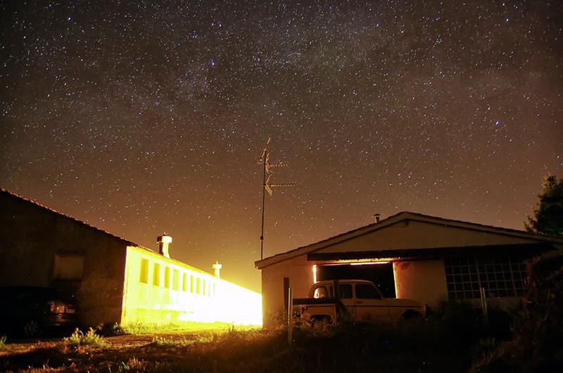 Espectacular cielo nocturno, desde la finca.