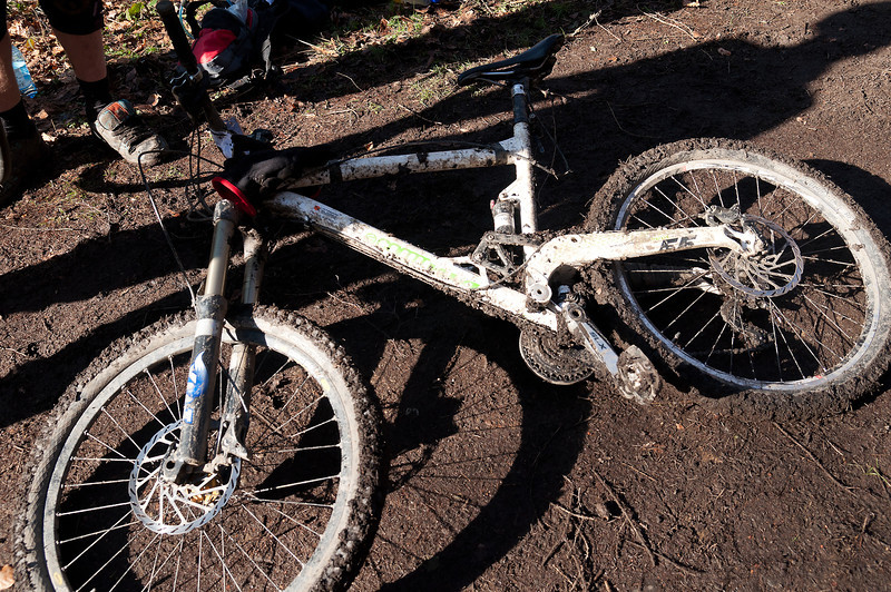 condition of  bike during the middle of race