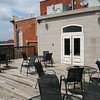 The deck area was set up for patrons to enjoy a drink or their meal on beautiful spring days.