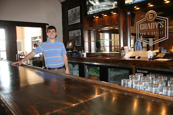 This is what the bar area looked like before the fire. Owner Trevor Anthony, pictured here, had high hopes for the revamped restaurant.