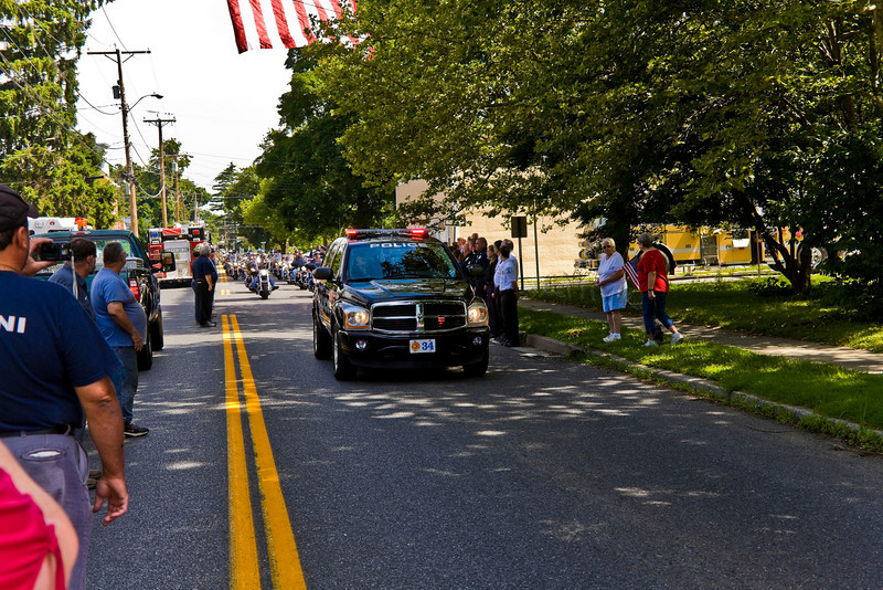 Photo's of Funeral procession 7/11/08