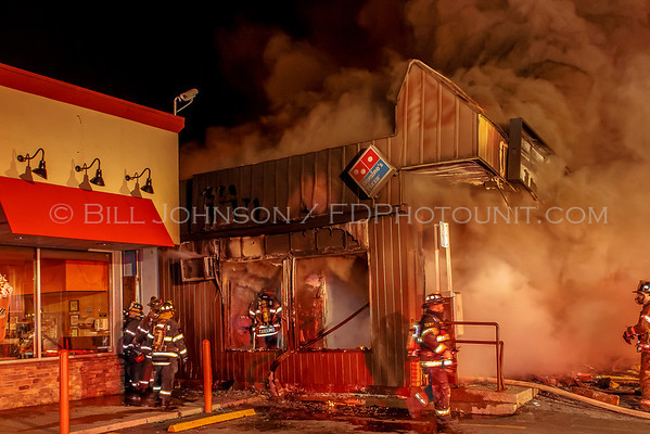 Fatal Structure Fire - Domino's Pizza - Route 9 - Wappingers Fire Department - 4/16/2014