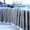 Frozen lake conditions at Sheffield Lake Community Park Jan. 4.  STEVE MANHEIM / CHRONICLE