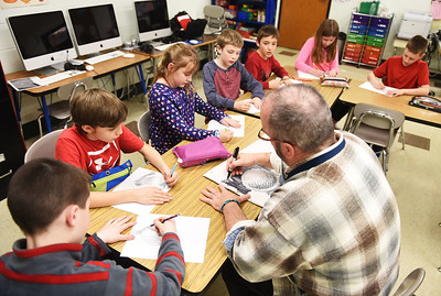 Art lessons at Copopa Elementary School