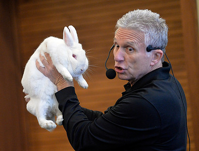 Bill Gang Of North Olmsted Pulls A Rabbit Out Box At The