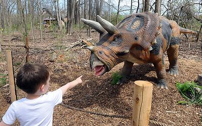 Dinosaurs on display at Carlisle Reservation