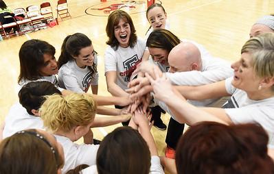 Elyria schools staff volleyball game