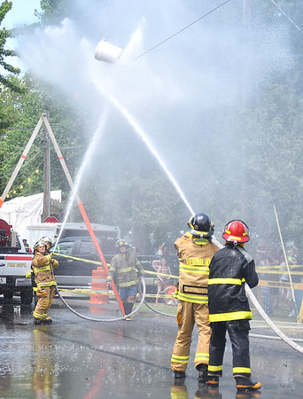 Firefighters' water fight