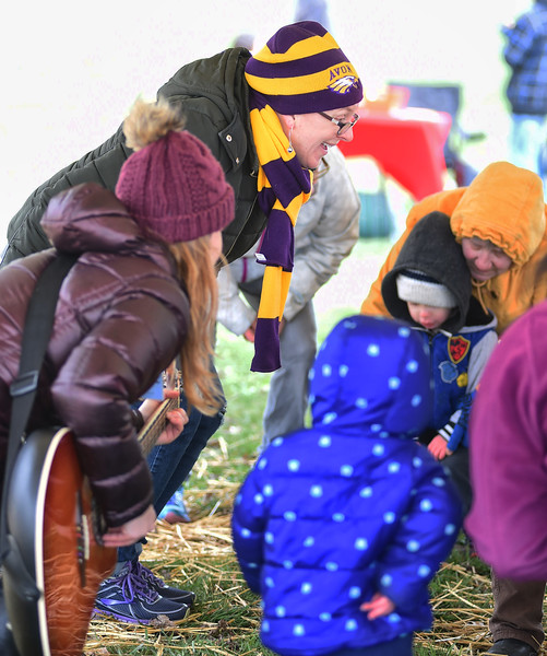 KRISTIN BAUER / CHRONICLE <br /> Alane Krumbine and Jaime Alspach, from the Music Therapy Enrichment Center, in Westlake, put on a program during the inaugural event for Every Child's Playground, in Avon, where students were invited to dance on Saturday morning, April 14.