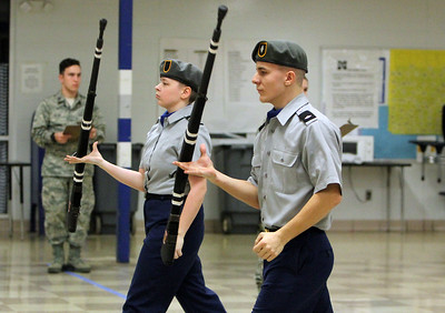 Junior ROTC drill competition at Midview High School