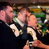 Colin Wright, left, and the Lochaber Pipe Band of Lorain, perform at Elyria Elks Lodge 465 on St. Patrick's Day Mar. 17. STEVE MANHEIM / CHRONICLE