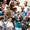 """KRISTIN BAUER / CHRONICLE<br /> Prospect Elementary School first grade students performed """"Different Beat"""" at the Elyria High School Performing Arts Center on Tuesday night, March 13."""