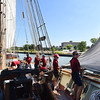 KRISTIN BAUER | CHRONICLE<br /> The sails are raised as the Pride of Baltimore II tall ship heads out into Lake Erie on Monday afternoon, Sept. 5.