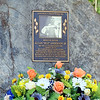 """The Allan 'Buz"""" Anderson Jr. memorial on Pitts Road in Wellington on Wednesday, June 22, the 10th anniversary of his drowning death while trying to rescue two teenagers during a flood. STEVE MANHEIM/CHRONICLE"""