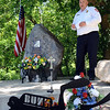 Wellington Fire Chief Mike Wetherbee speaks at a rededication of the Allan 'Buz' Anderson Jr. Memorial on the 10-year anniversary of his death, on Pitts Road in Wellington on Wednesday, June 22.  STEVE MANHEIM/CHRONICLE