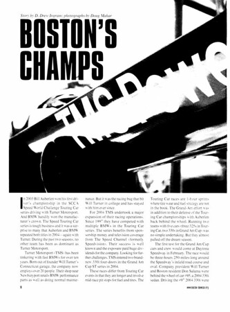 Boston's Champs, Boston Bimmer, January/February 2005
