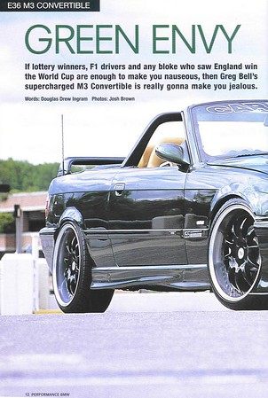 Green Envy, Performance BMW, August 2002