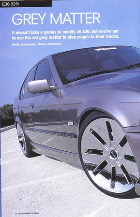 Grey Matter, Performance BMW, June 2002