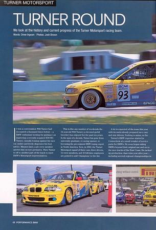 Turner Round, Performance BMW, September 2003